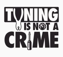 Tuning is not a crime Kids Tee
