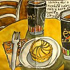 long black with citrus tart by Evelyn Bach