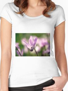 Cyclamen persicum Persian Violets, Israel Spring March  Women's Fitted Scoop T-Shirt