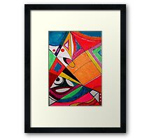 Fruit box Art - geometric abstract no 4 of 4 Framed Print