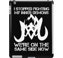 I Stopped Fighting my inner Demons t-shirts iPad Case/Skin