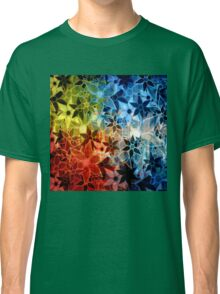 Colorful Vintage Trendy Floral Pattern Classic T-Shirt