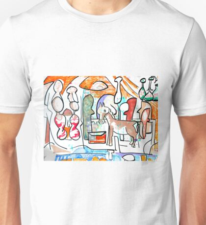 Abstract surreal Nativity Unisex T-Shirt