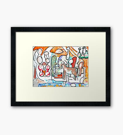 Abstract surreal Nativity Framed Print