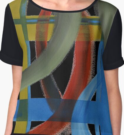 Supercharged Xs and Os Chiffon Top