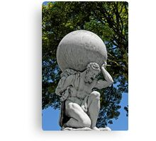 Statue of Hercules, Portmeirion, Wales, UK Canvas Print