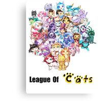 League Of Cats <3 Canvas Print