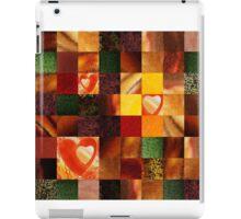 Hearts And Squares Decorative Design iPad Case/Skin