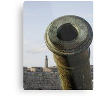 Cannon & El Morro lighhouse, Havana, Cuba Metal Print