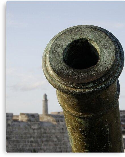Cannon & El Morro lighhouse, Havana, Cuba by buttonpresser