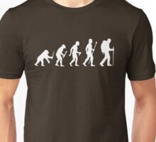 Evolution Of Man and Hiking Unisex T-Shirt
