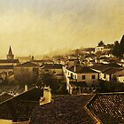 Rooftops, Obidos, Portugal by buttonpresser