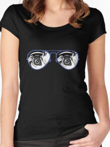 Photographer_Glasses Women's Fitted Scoop T-Shirt