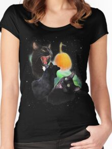 3 Yawning Cats Women's Fitted Scoop T-Shirt