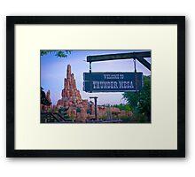 Thunder Mesa (Frontierland) Framed Print