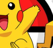 Pikachu Pokeball  Sticker
