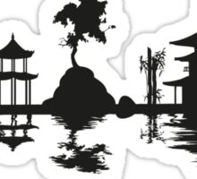 Asian Landscape Sticker
