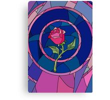 Glass Rose Canvas Print