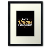 programmer : i am a unique programmer Framed Print