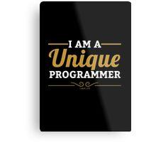 programmer : i am a unique programmer Metal Print