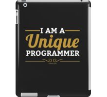 programmer : i am a unique programmer iPad Case/Skin