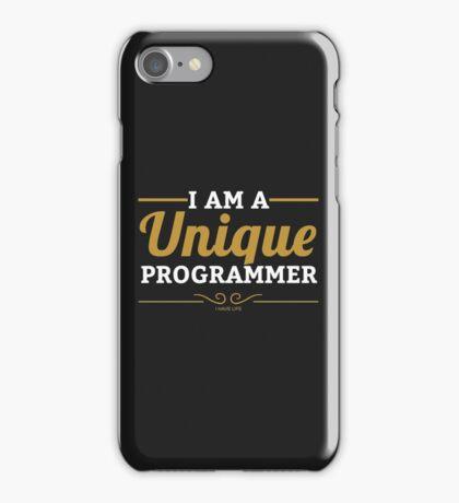 programmer : i am a unique programmer iPhone Case/Skin
