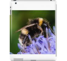 Bumble bee on blue flower iPad Case/Skin