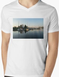 Hot Summer - Clear Sky and Sunshine at the Yacht Club Mens V-Neck T-Shirt