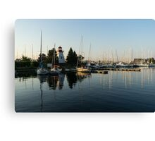 Hot Summer - Clear Sky and Sunshine at the Yacht Club Canvas Print