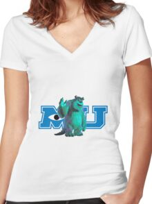Sully Monsters Inc / University Women's Fitted V-Neck T-Shirt