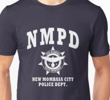 New Mombasa Police Dept. - Halo - White Unisex T-Shirt
