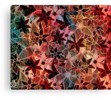 Colorful Vintage Trendy Floral Pattern Canvas Print