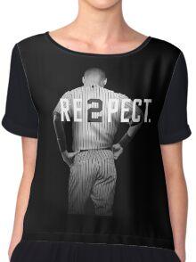 Respect Derek Jeter Re2pect 2 On Back new york uniform MJ baseball Chiffon Top