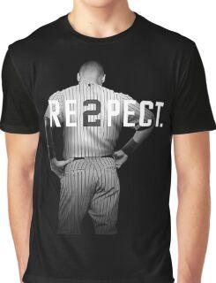 Respect Derek Jeter Re2pect 2 On Back new york uniform MJ baseball Graphic T-Shirt