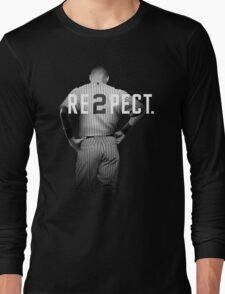 Respect Derek Jeter Re2pect 2 On Back new york uniform MJ baseball Long Sleeve T-Shirt