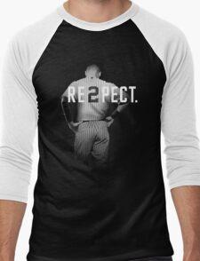 Respect Derek Jeter Re2pect 2 On Back new york uniform MJ baseball Men's Baseball ¾ T-Shirt