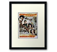 Performing Arts Posters Long Bros Pawnee Bill May Lillie in the great western military romantic play Madeline of Fort Reno the sensation of the 19th century 2019 Framed Print