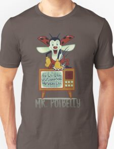Mr. Potbelly attacks - from series Mr. Potbelly and Mr. Snot Unisex T-Shirt