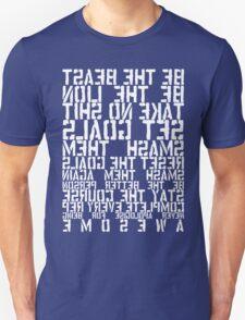 Training Rules - White Mirrored Unisex T-Shirt