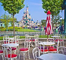 Sleeping Beauty Castle from Casey's Corner by ThatDisneyLover