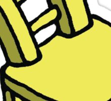 Yellow Cartoon Stylized Bendy Chair  Sticker