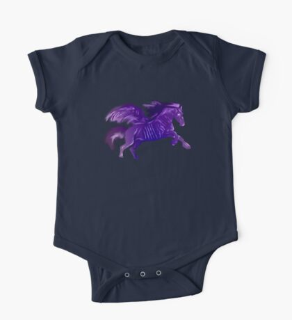 Purple Winged Horse One Piece - Short Sleeve