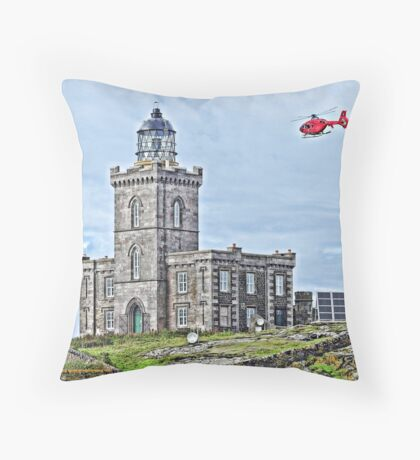Isle of May Lighthouse  Throw Pillow