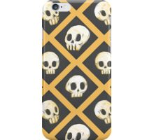 Tiling Skulls 1/4 - Yellow  iPhone Case/Skin