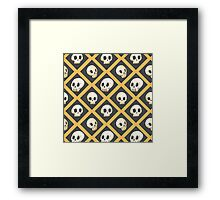 Tiling Skulls 1/4 - Yellow  Framed Print