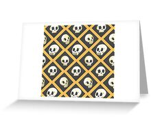 Tiling Skulls 1/4 - Yellow  Greeting Card