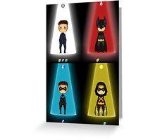 The Evolution of Batman Greeting Card