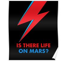 """David Bowie """"Is There Life on Mars?"""" original design Poster"""