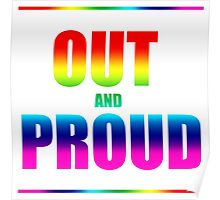 Out and Proud Rainbow Poster