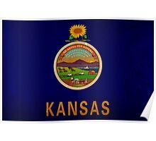Kansas State Flag VINTAGE Poster